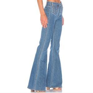 NWOT MAJORELLE Moss Vintage Blue Flare Jeans